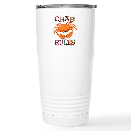 Crab Rules Stainless Steel Travel Mug