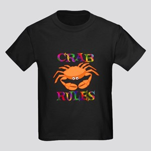 Crab Rules Kids Dark T-Shirt