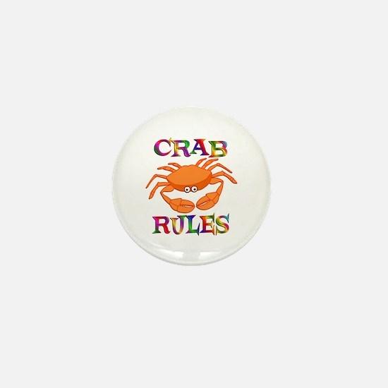 Crab Rules Mini Button