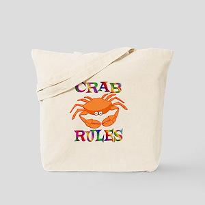 Crab Rules Tote Bag