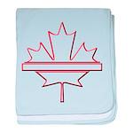 Maple leaf outline logo vride baby blanket