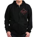 Maple leaf outline logo vride Zip Hoodie (dark)