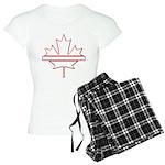 Maple leaf outline logo vride Women's Light Pajama