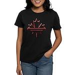 Maple leaf outline logo vride Women's Dark T-Shirt