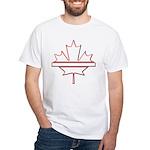 Maple leaf outline logo vride White T-Shirt