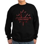 Maple leaf outline logo vride Sweatshirt (dark)