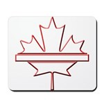 Maple leaf outline logo vride Mousepad