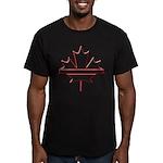 Maple leaf outline logo vride Men's Fitted T-Shirt