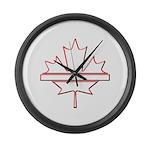 Maple leaf outline logo vride Large Wall Clock