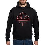 Maple leaf outline logo vride Hoodie (dark)