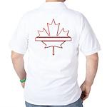 Maple leaf outline logo vride Golf Shirt