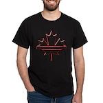 Maple leaf outline logo vride Dark T-Shirt