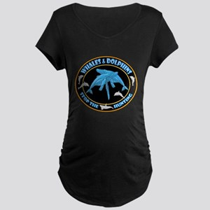 Stop Hunting Whales Maternity Dark T-Shirt