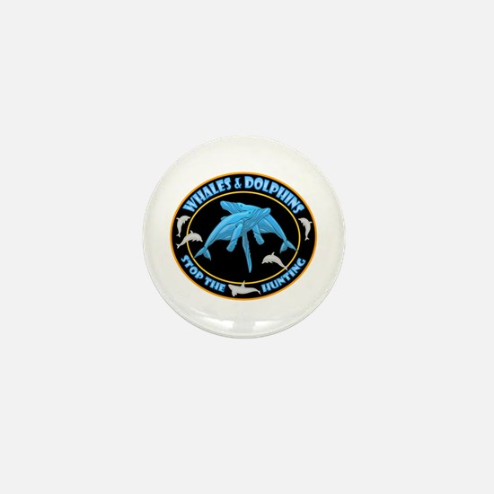Stop Hunting Whales Mini Button