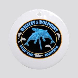 Stop Hunting Whales Ornament (Round)