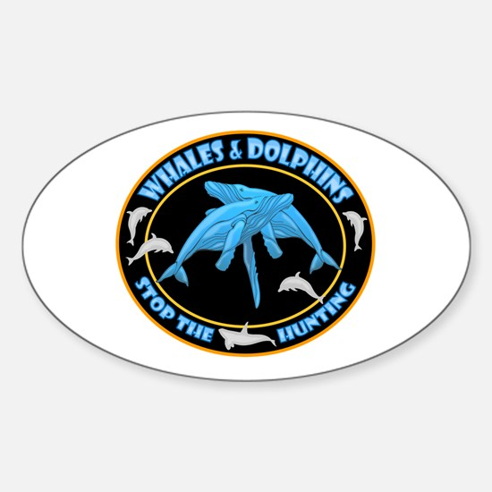 Stop Hunting Whales Sticker (Oval)