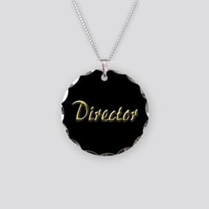 Director Necklace Circle Charm