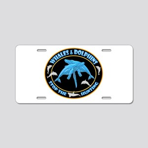Stop Hunting Whales Aluminum License Plate