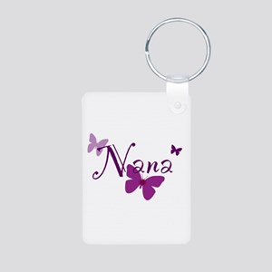Nana Butterflys Aluminum Photo Keychain