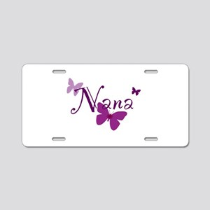 Nana Butterflys Aluminum License Plate