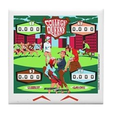 Gottlieb® College Queens Pinball Tile Coaster