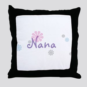 Nana Flowers Throw Pillow
