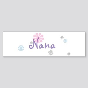 Nana Flowers Sticker (Bumper)