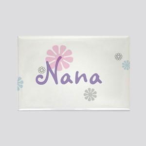 Nana Flowers Rectangle Magnet
