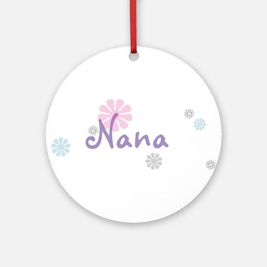 Nana Flowers Ornament (Round)