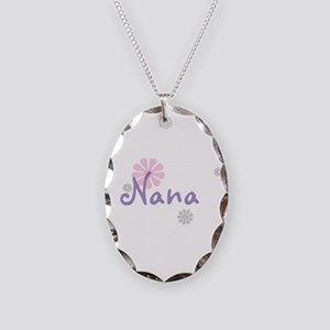 Nana Flowers Necklace Oval Charm