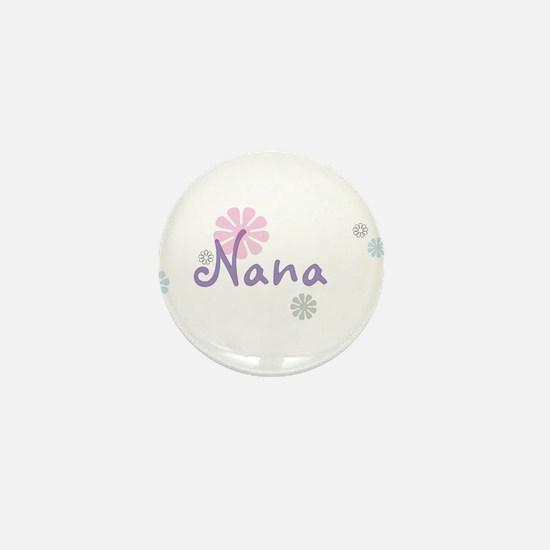 Nana Flowers Mini Button