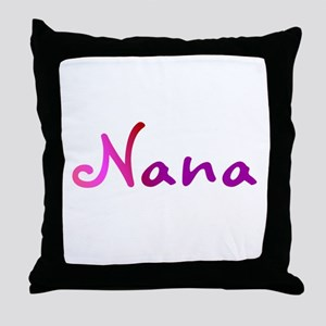 Pink Nana Throw Pillow