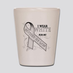 I Wear White for my Father-In Shot Glass