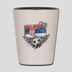 Soccer Fan Serbia Shot Glass