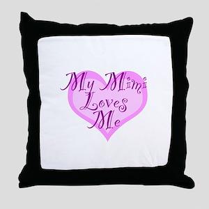 My Mimi Loves Me Throw Pillow