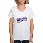 Winning Duh Women's V-Neck T-Shirt