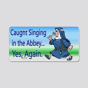 Singing Nun Aluminum License Plate
