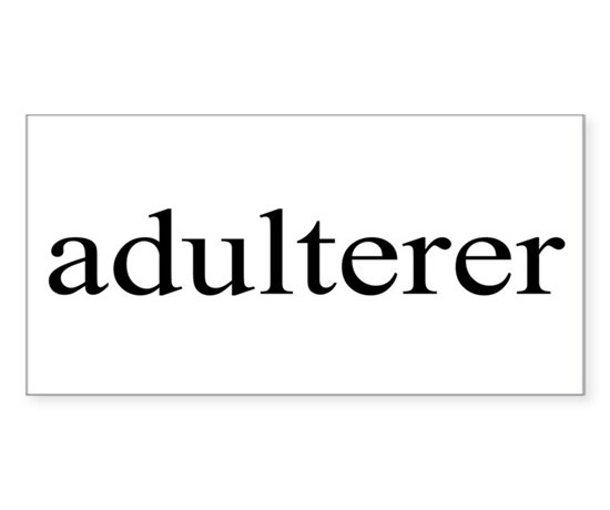 Adulterer rectangle decal