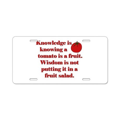 Tomato Fruit Salad Aluminum License Plate