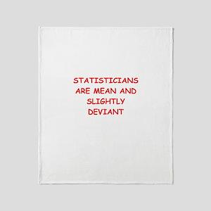 funny math joke Throw Blanket