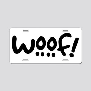 Woof! Dog-Themed Aluminum License Plate