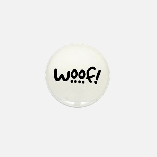 Woof! Dog-Themed Mini Button