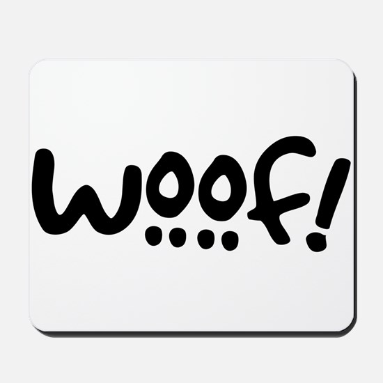 Woof! Dog-Themed Mousepad