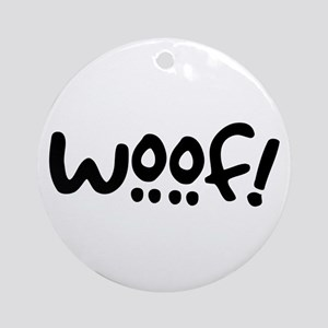 Woof! Dog-Themed Ornament (Round)