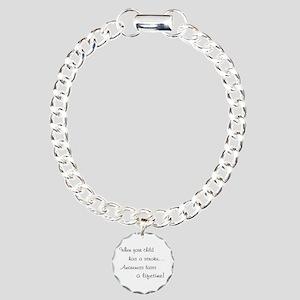 Awaremess lasts/Child stroke Charm Bracelet, One C