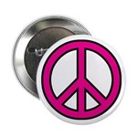 Pink Peace Sign 2.25