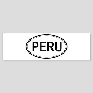 Peru Euro Bumper Sticker