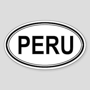 Peru Euro Oval Sticker