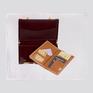 BusinessBoardingPass080209 Throw Blanket