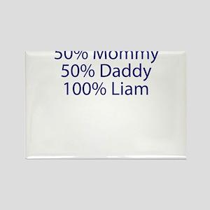 100% Liam Rectangle Magnet